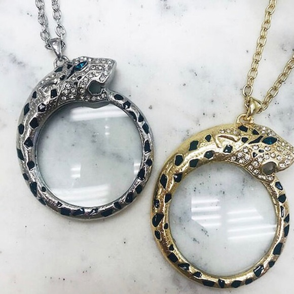 ZokyDoky Jewelry - Leopard Magnifier Monocle Necklace Gold or Silver